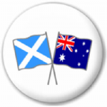Scotland St Andrew and Australia Friendship Flag 25mm Pin Button Badge